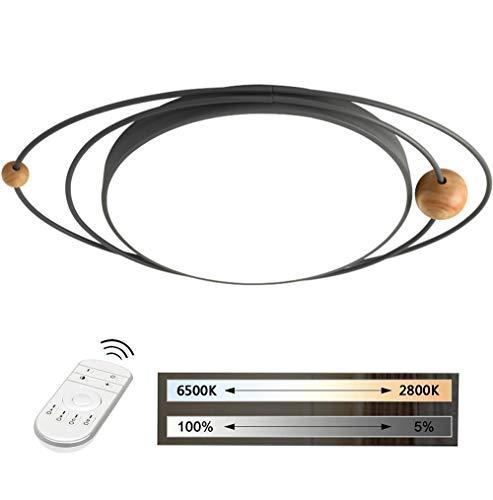 HIL Macaron Led-plafondlamp, kinderkamerlamp van hout, persoonlijkheid voor hoofdslaapkamer, slaapkamerlamp, bedlampje 78.5 * 52 * 8CM Grijs
