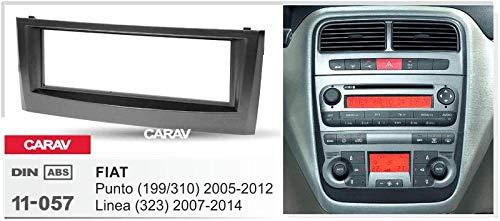 CARAV 11-057 1-DIN Marco de plástico para Radio para FIAT Punto (199/310) 2005-2014, Linea (323) 2007-2011
