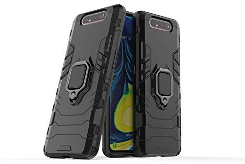 Capa para celular Samsung A80/A90, em material tpu, com fivela magnética giratória de 360 °,Preto