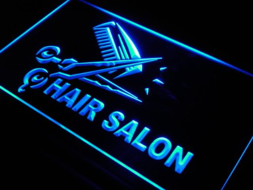 ADV PRO Enseigne Lumineuse s109-b Hair Salon Cut Scissor Display Neon Light Sign