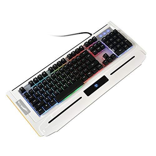 Tastatur PC 7 Farben Beleuchtet Gaming Keyboard LED USB Kabel Computer K220Black