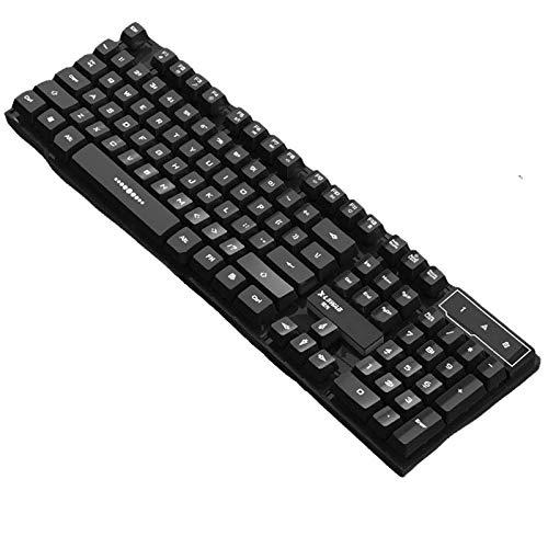 Gaming Tastatur Englisch mit Kabel USB. wasserdicht-ergonomisch, Keyboard Tastatur für PC Xbox one X PS4 Tastatur, PC Gaming Tastatur für Desktop,Windows 104 Tasten (Black Tastatur)