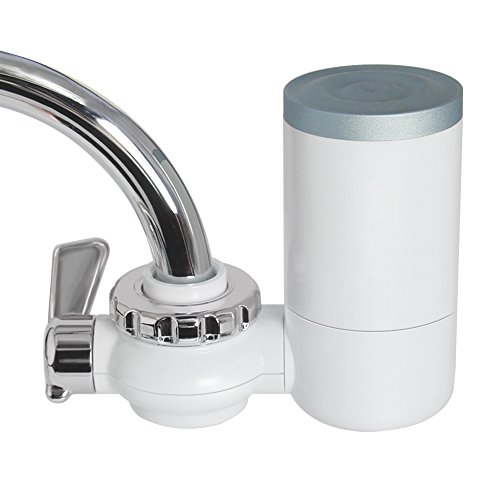 Faucet Water Filter, 8 Stage Water Filtration Faucet Mount, 7 Different Kinds of Interfaces, Suitable for Most Faucets, Easy to Install, 0.46gal/min/100kpa Large Filtration Discharge System
