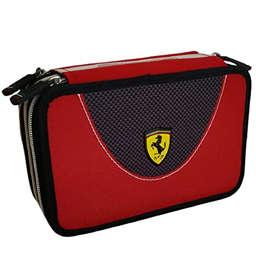 Estuche triple Panini Escudería Ferrari Kids 3 cremalleras completo