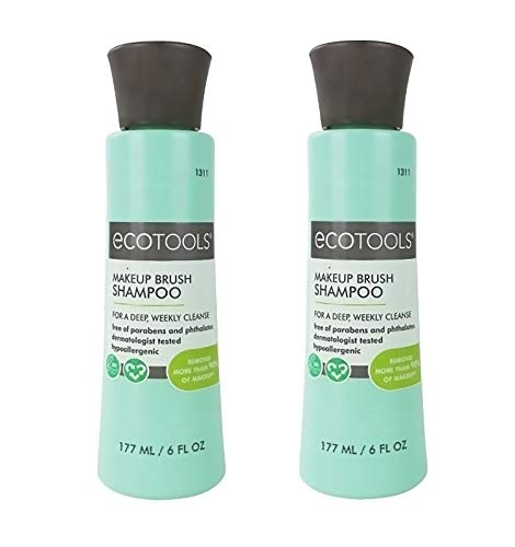 Ecotools Makeup Brush Cleaner Cleansing Shampoo, 6 oz, Pack of 2 ( Packaging may vary )