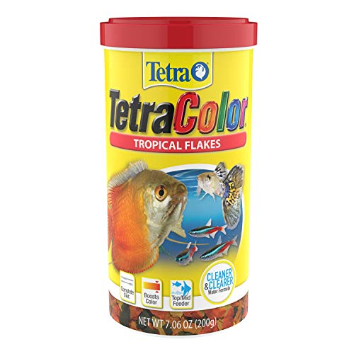 Tetra Tropical Color Flakes 7.06 Ounces, Clear Water Advanced Formula