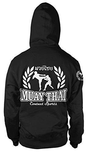 Muay Thai Kapuzen-Sweatshirt Hoodie Pullover MMA Kampfsport Thai-Boxen Fight Club