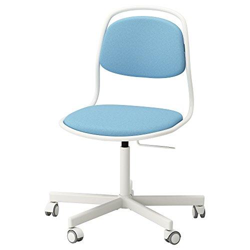 Zigzag Trading Ltd IKEA ORFJALL/SPORREN - Silla giratoria Blanco/Azul luz vissle
