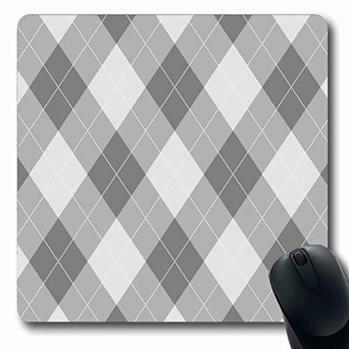 Mousepads für Computer Längliche Form Graues Argyle-Muster Diamantformen Abstraktes Plaid Klassische geometrische Retro-Socken Design Rutschfestes, längliches Gaming-Mauspad
