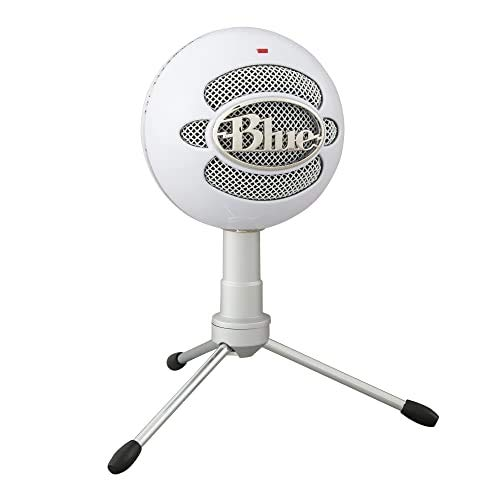 Blue Microphones Snowball ICE - Micrófono USB para grabación y transmisión en PC y Mac, cápsula de condensador cardioide, soporte ajustable, Plug and Play, Blanco
