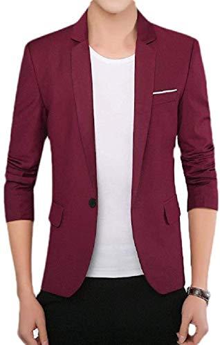 Avis N Men 3/4 Sleeve Casual Regular Fit Solid Business Dress Blazer Jacket Sport Coat