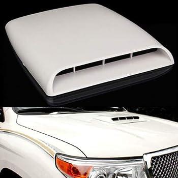 VORCOOL Universal Car Hood Scoop Sport Racing Air Flow Intake Turbo Bonnet Hood Vent Grille Cover Silver