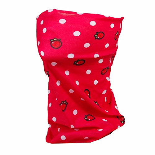 ANUANT Kids Youth Neck Gaiter Fishing Sun Mask - Junior Face Tube Mask Shield for Snow Ski Skiing Running - UV Sun Protection, Dust, Wind Shield Headband in Spring, Fall, Winter (red)