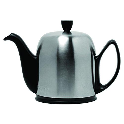 Guy Degrenne 211994 Teekanne für 8 Tassen Edelstahl/Porzellan, 25,2 x 25,2 x 22,9 cm