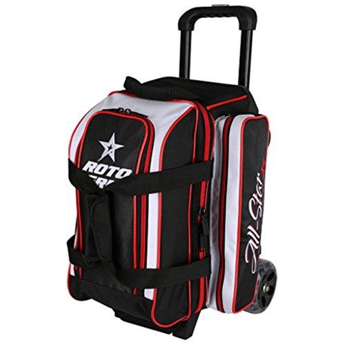 Roto Bowlingtasche Grip 2 Ball Roller schwarz/weiß/rot