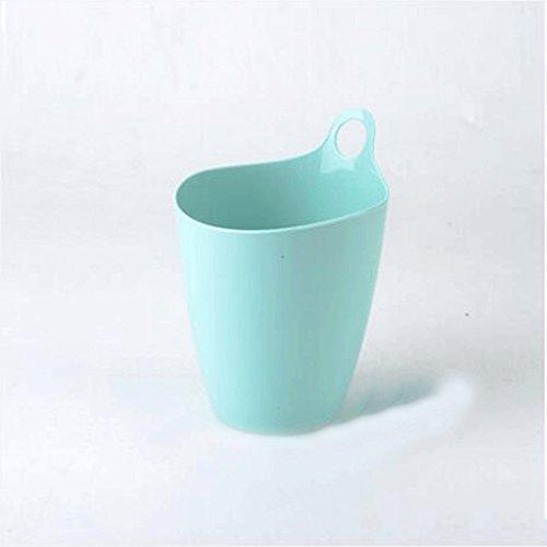 GAOLILI Créative Poubelles de Bureau Mini Trompette Maison Salon Chambre Chevet Creative Dustbins ( Couleur : Bleu )
