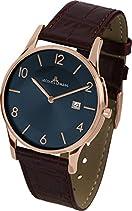 Jacques Lemans Herren-Armbanduhr XL London Analog Quarz Leder 1-1777U