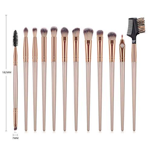 QWK Makeup Brush Tool Set Cosmetic Foundation Ombre à paupières Liquid Foundation Blush Makeup Brush Set, 01