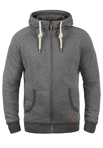 !Solid Vitu Herren Sweatjacke Kapuzenjacke Hoodie mit Kapuze und Reißverschluss, Größe:L, Farbe:Grey Melange (8236)