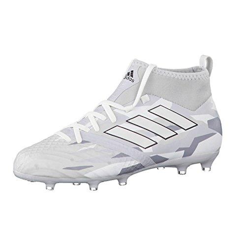 Adidas Ace 17.1 - Scarpe sportive bianche con suola Fg/Ag con calzino da bambino