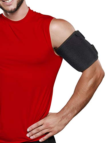 """Bicep TendonitisBrace Compression Sleeve - Triceps & Biceps Muscle Support For Upper Arm Tendonitis Pain Relief Or Bicep Strains (LAR Bicep 11 to 18 """")"""