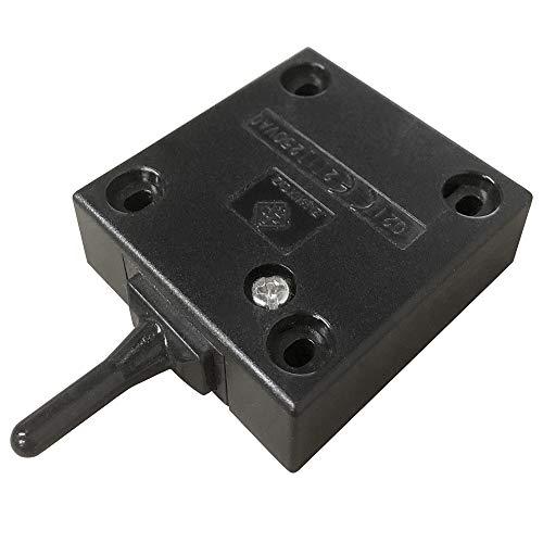 FUJIE Interruptor de la puerta Empuje de superficie Interruptor de contacto para puerta de mueble Iluminación Interruptor automático 2A 250V la luz de puerta del interruptor del empuje Negro