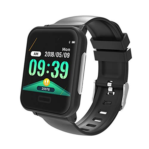 YJRIC Sportuhr Smart Armband EKG HR Blutdruck Fitness Tracker Smart Band IP67 Wasserdichtes Bluetooth Smart Watch Bluethooth Armband, schwarz