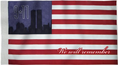 Heath Outdoor Products #29112 Made In Usa Commemorative 9-11 Banner Flag, 2-1/2 by 4 Feet Banner Flag, Poly Cotton