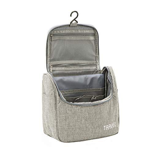 Kulturbeutel Waschtasche Unisex - Acdyion Aufhängen Kosmetiktasche Reise-Tasche für Herren und Frauen für Koffer & Handgepäck Urlaub Waschbeutel Toiletry Bag (Grau)