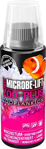 MICROBE-LIFT Zoo-Plus - Futterplankton (Tierisches Qualitäts-Plankton für Korallen & Fische in jedem Meerwasser Aquarium, steigert das Wachstum und die natürliche Farbgebung) 118 ml