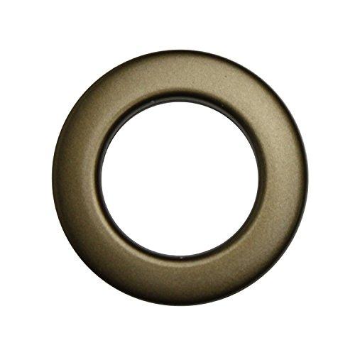 Stoffösen für 33mm Stoffloch - Hightech Kuststoff - Made in Germany - verschiedene Farben - Auch für dicke Stoffe geeignet - 10 Stück (messing-antik)