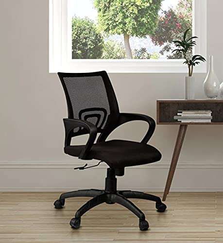 Casa Copenhagen, Collection PD - Ergonomic Computer Office Super Soft Desk Chair Adjustable Mid Back with Lumbar Support Armrest Executive Rolling Swivel - Black