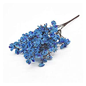 KEHUITONG PSGS Silk Gypsophila Artificial Flowers Small Bunches 5 Forks 30CM Living Room Decoration Fake Plants Vase for Home Wedding