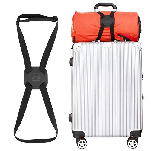 Luggage Straps Bag Bungees for Add a Bag Easy to Travel Suitcase Elastic Strap Belt (Black)
