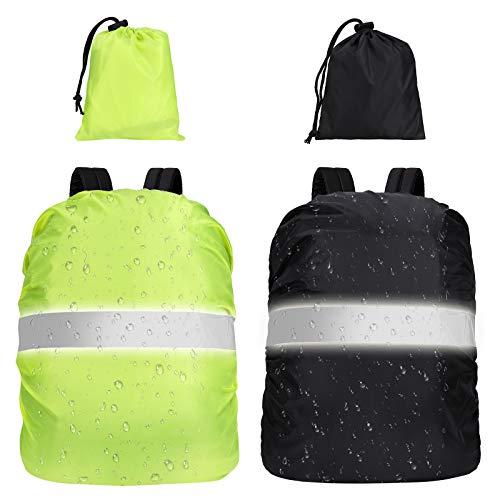 Heveer Fundas para Mochilas Cubierta Impermeable Mochila 40-50L para Excursionismo Camping Viajar Actividades al Aire Libre 2 Pcs