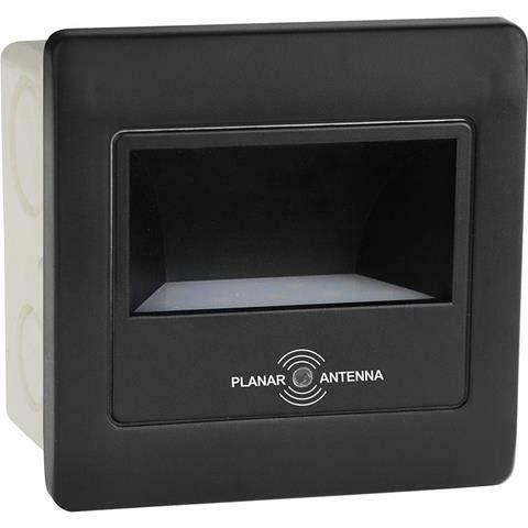 Horoz LED Treppenbeleuchtung 86 x 86mm 2W Neutralweiß 150 lm mit Bewegungsmelder inkl. Unterpotzdose Treppenlicht Treppenleuchte Schwarz