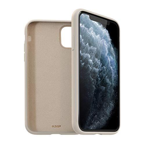 KMP Handyhülle für iPhone 11 Pro - Champagner - Velvety Premium - Schützhülle - extra stabil und leicht - Silicone Hülle Hülle