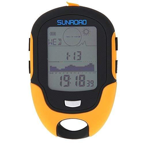 LCD Multifunzione Digitale Portatile Altimetro con Bussola del barometro del termometro Previsioni Meteo igrometro Torcia LED ed Essenziale Orologio Esterno zcaqtajro