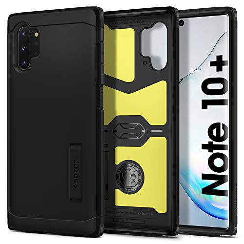 Spigen Coque Samsung Note 10 Plus, Coque Note 10 Plus [Tough Armor] Protection Maximale - US Military Grade, Air Cushion, Coque Compatible avec Samsung Galaxy Note 10 Plus (2019) - Noir