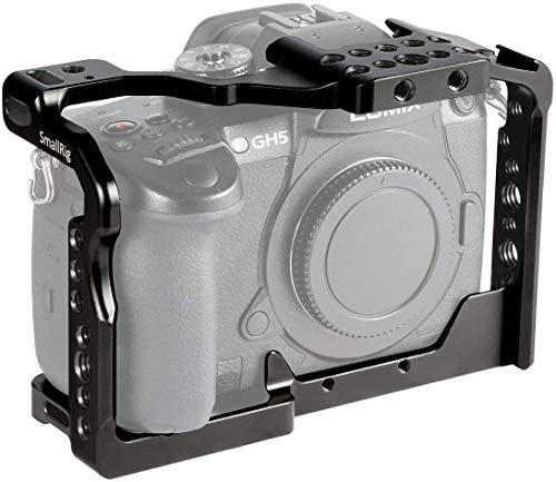 SMALLRIG GH5 GH5S Cage for Panasonic Lumix Camera and DMW-XLR1 (Upgraded Version) - 2049, Video Stabalization Camera Cage, Professional Video Accessories