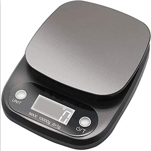 ALY Digitalwaage für max. 10 kg, Digitale Küchenwaage mit großer Wiegefläche und Tara, praktische Haushaltswaage