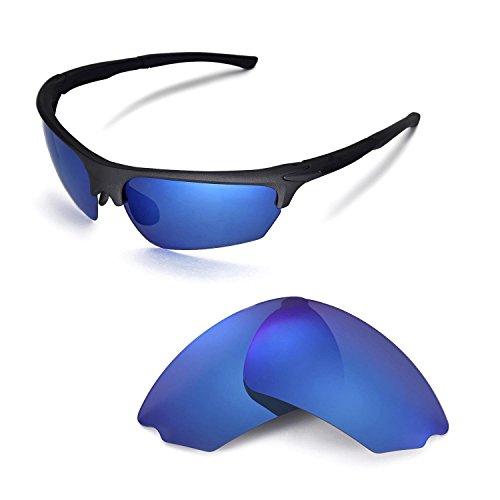 Walleva Ersatzgläser für Rudy Project Noyz Sonnenbrille - Mehrfache Optionen (Eisblau beschichtet - polarisiert)