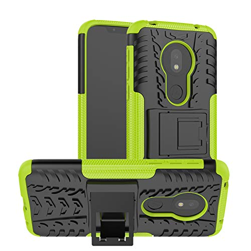 betterfon | Outdoor Handy Tasche Hybrid Hülle Schutz Hülle Panzer TPU Silikon Hard Cover Bumper für Motorola Moto G7 Play Grün