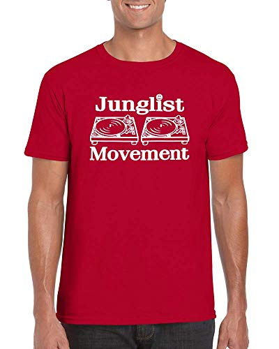 Junglist Movement T-Shirt - Human Traffic Vinyl Record Turn Table DJ Top Tee