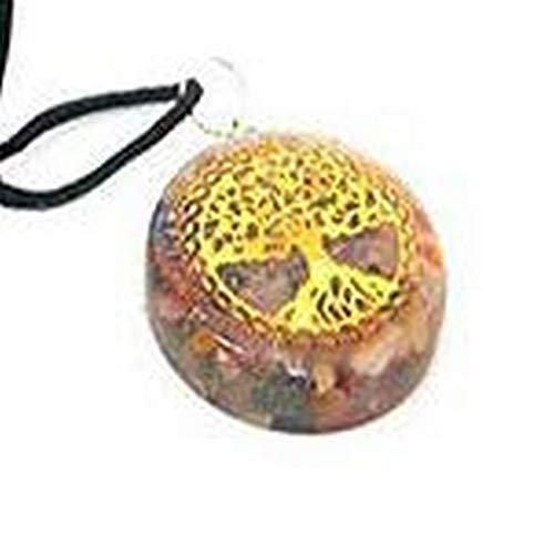 HiJet Colgante Orgone, con Piedras Preciosas para el Chakra, árbol de la Vida, orgonal, generador, Equilibrio, energía Positiva, armonía, Suerte, Yoga, meditación, Reiki, Estilo auténtico, auténtico