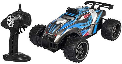 wangch RC Buggy 1 / 16RC Coche 4WD All-Terreno RC Camión Coche eléctrico 2.4G de Alta Velocidad Off-Road Coche de Juguete Regalo de cumpleaños de Navidad para niños (Color : Azul)