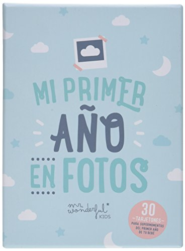 Tarjetas Mr. Wonderful para recordar mi primer año en fotos