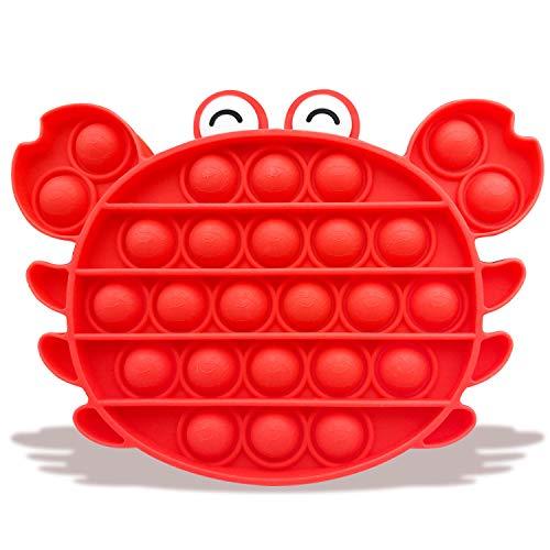 Uni-Fine Bubble Fidget, Push Pop Pop Bubble Sensorial Fidget Juguete Aliviar El Estrés Toys Push Pop Pop Bubble Sensory Fidget Toy Pop It Fidget Toy Reutilizables para Niños, Adultos Y Ancianos