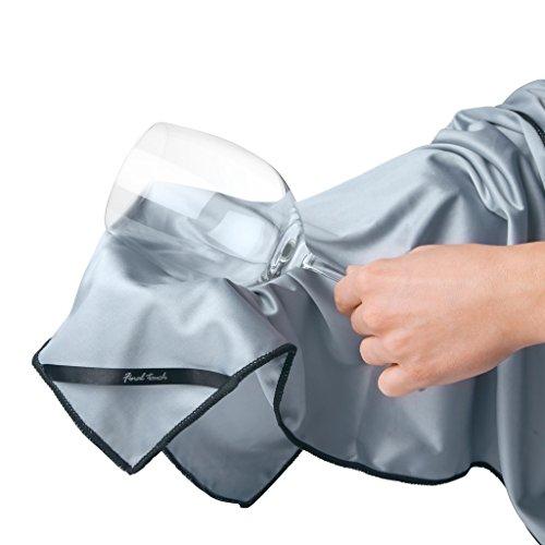 Final Touch Glassware Cleaning Cloths Extra Große Mikrofaser Glasreinigungstuch Ideal für Karaffen, Weingläser FTA7020