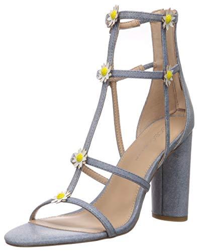 BCBGeneration Women's Jordan Caged Sandal Heeled, Blue, 7.5 M US